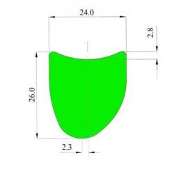 "WR Compositi  M27,5""  Tubular Asymetric"