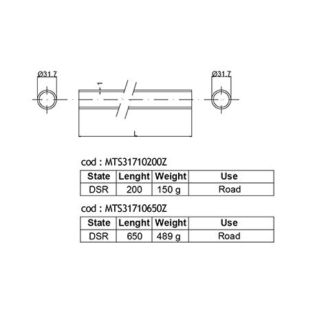 DEDACCIAI  hlavová trubka  Ø 31,7mm