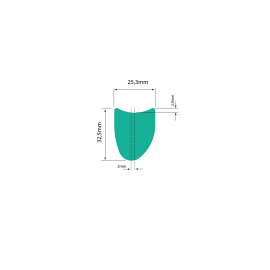 "WR Compositi  XCT 29""  Tubular Asymetric"
