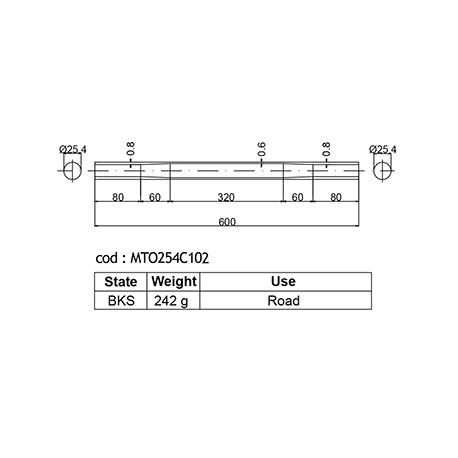 DEDACCIAI horní rámová trubka  Ø 25,4mm