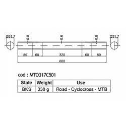 DEDACCIAI MTO317C501  Ø 31,7mm horní rámová