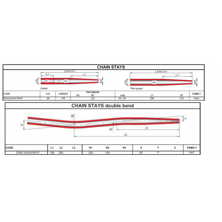 COLUMBUS  ZON915560FAT sedlová vzpěra FAT